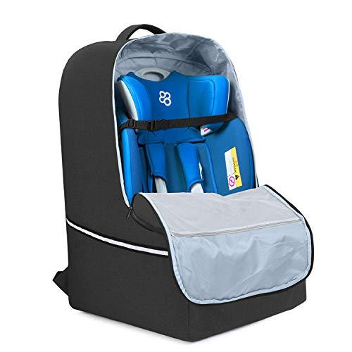 Teamoy Kindersitztransporttasche, Kindersitz Tasche für Reisen, Transporttasche Kindersitz Flugzeug, Schwarz