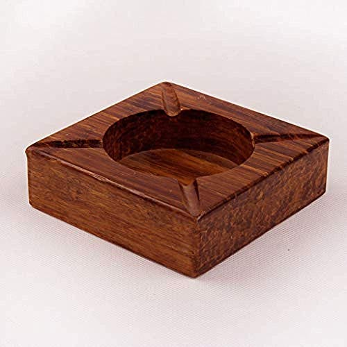 OH Bandeja de Cenizas para Cigarrillos Decoraciones Artesanía Artesanía Cenicero de Regalo Ancho Negocio Bambú Pesado para la Decoración de la Oficina en Casa Adornos de escritorio