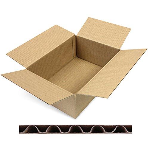 verpacking 100 Faltkartons Versandkartons DHL Kartons 250 x 175 x 100 mm, KK-24, 1-Wellig