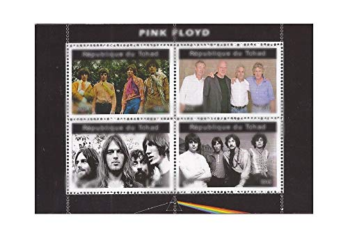 Chad - 2019 Rock Band Pink Floyd - 4 Stamp Sheet - 3B-738