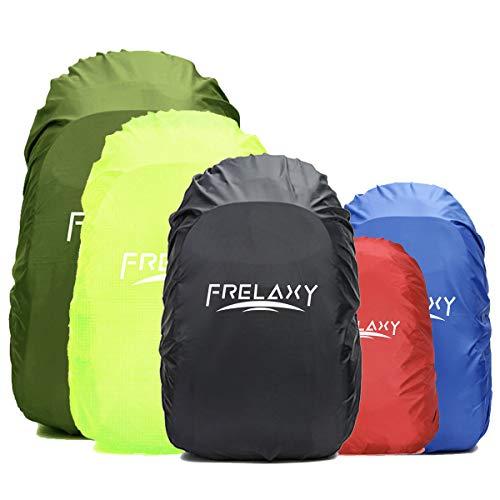 Frelaxy Wasserdichter Regenschutz für Rucksäcke Schulranzen(15-90L), Pack Regenhülle Regencape mit Reflektoren & Rutschfester Kreuz Schnallenriemen für Wandern, Camping, Radfahren