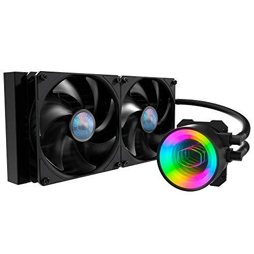 Cooler Master MasterLiquid ML280 Mirror Refrigerador Líquido CPU ARGB: Sistema Refrigeración Bomba de Agua AIO 3º Gen, Ventiladores SickleFlow V2 2x140mm, Radiador 280mm, Compatible Socket AMD e Intel