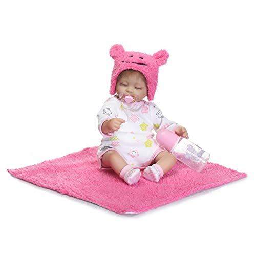 Ganzkörper Silikon Reborn Mädchen Babypuppe Spielzeug Neugeborene Prinzessin Kleinkind Babys Schlaf Begleitung Puppen Spielhaus Spielzeug Gugutogo