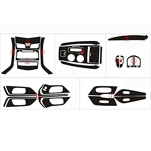 YWhjklb para Nissan, para Teana 2013-2018 Panel de Control Central Interior manija de Puerta 3D / 5D Pegatinas de Fibra de Carbono calcomanías Accesorios de Estilo de Coche