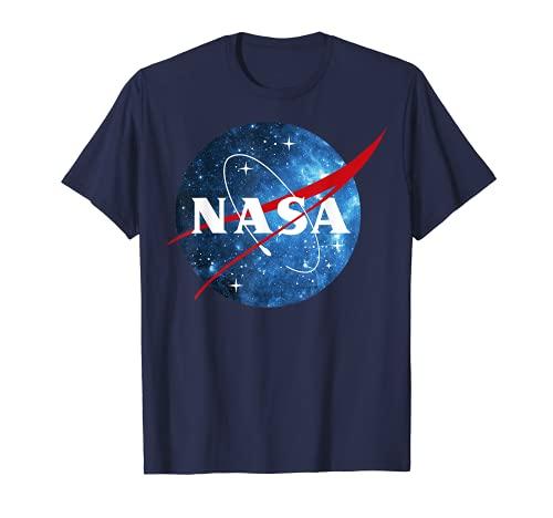 NASA Logo Classic Space Blue Camiseta