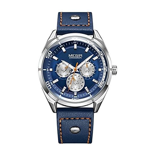 Ejército Creativo Relojes Militares Hombres Marca de Lujo Cuarzo Deporte Reloj de Pulsera Hombres Relogio Masculino Erkek KOL Saati, azul,