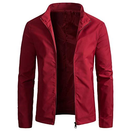 NLZQ Herren Hoodie Jacke Herren Sweatshirt Lässiges Mantel Voller Reißverschluss Herren Jacke ,2020 neues einfarbiges Slim Mantel Winddicht und einfach Hoodie L