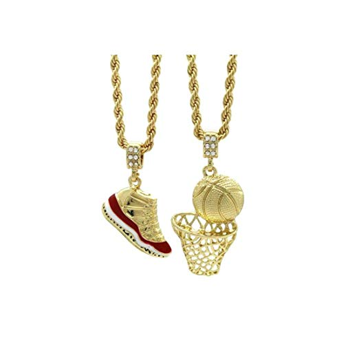 ICE BOX Jordon Schuh Basketball Supreme Patty Kette Gold Labor Diamant Halskette Hip-Hop