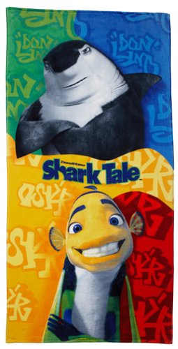 Disney Shark Tale Don Lino y Oscar Collage Toalla de playa