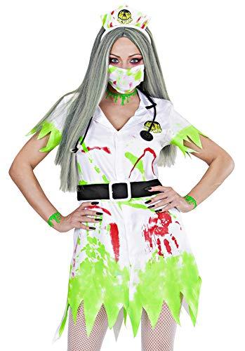 Widmann s.r.l. Toxische Krankenschwester Kostüm Gr. M - Ausgefallenes Schwesternkostüm für Halloween