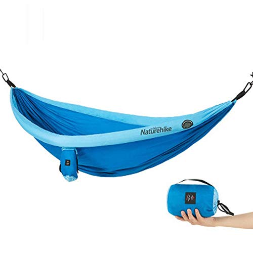 Hammock, with Tree Straps Lightweight Portable Nylon Parachute Double Hammocks, for Backpacking, Camping, Travel, Beach, Yard. /94.5x68.1 Inches RMCX