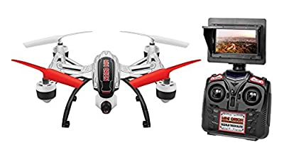 World Tech Toys Elite Mini Orion 2.4GHz 4.5CH LCD Live-View Camera RC Drone, White/Black/Blue/Red/Glow, 12 x 12 x 4