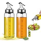 Dispensador de Aceite,2 Set Aceitera Botella Antigoteo Aceitera y Vinagrera...