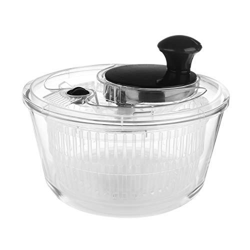 Centrifuga per insalata in vetro, 2,6 litri Trasparente e Nero