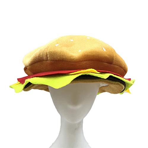 earlyad Sombrero Halloween Divertido Hamburguesa Sombrero Fiesta Comida Vestido Tocado Juegos de rol Accesorios