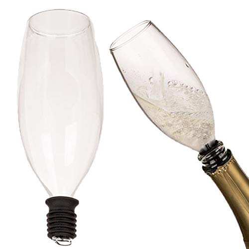 Bada Bing Tapón para botellas de champán de cristal con junta de silicona, tapón para copa de champán, tapón de corcho, 78