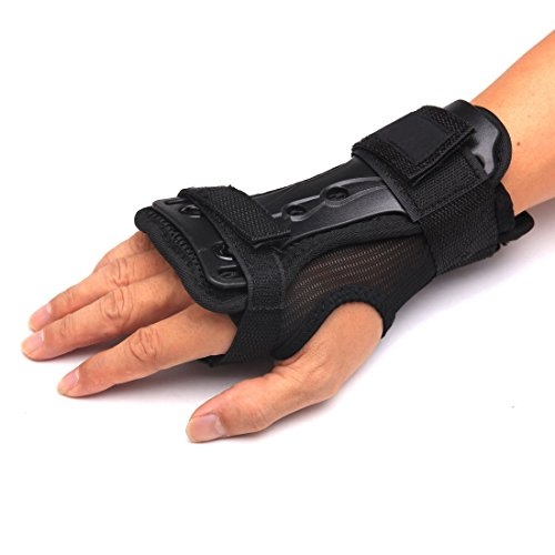 Andux Ski Gloves Extended Wrist Palms Protection Roller Skating Hard Gauntlets Adjustable Skateboard...