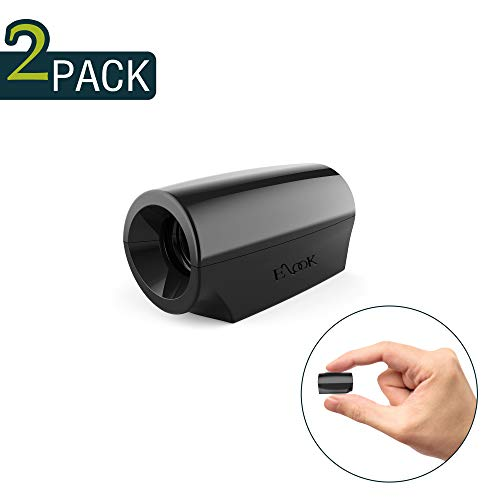 Elook Deer Warning Whistles Device for Car, Save Deer Whistle with Upgraded Acrylic Double-Sided Tape, Mini Size, 2 Pack