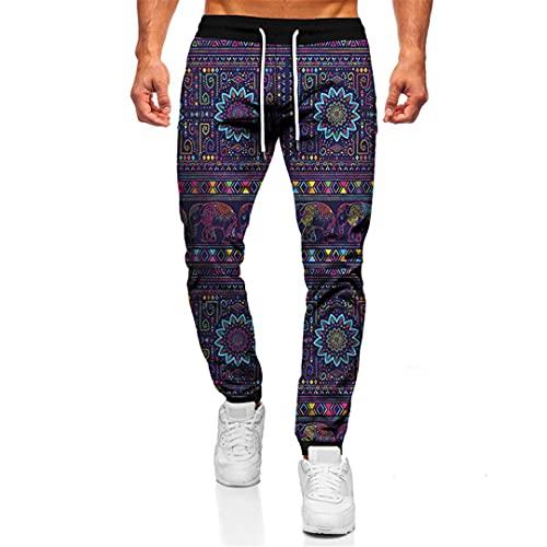 Impresión 3D Animal Elephant Casual Hombres Mujeres Casual Pantalones Pantalones Sueltos Hip Hop Pantalones, Tta1-78, 27-32