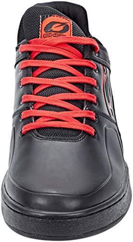 O'NEAL | Zapatillas de bicicleta | MTB DH FR | Equilibrio entre el agarre y el reposicionamiento del pie, protección de la articulación interna | Zapatilla Pinned Pro | Adultos | Negro Rojo | Talla 44