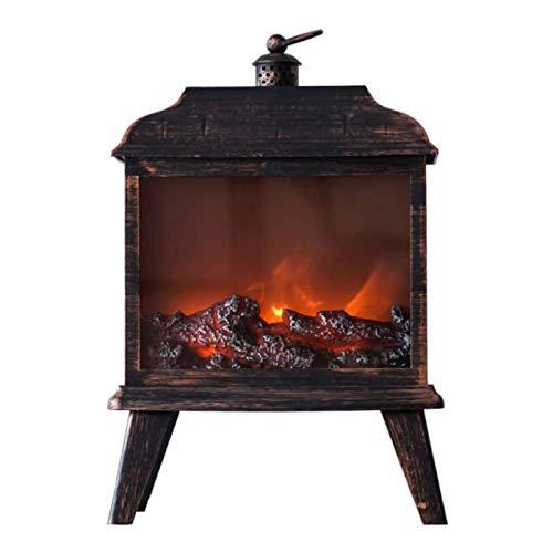 DGYAXIN 02 - Reloj de chimenea decorativo LED simulación de llama, protección contra sobrecalentamiento, efecto llama realista para el salón, el hogar, la oficina, el hogar, el oficina