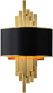 AGTRRYHZ Bedside Lamp Living Room Bedroom Wall Light Black Gold Wall Lamp Simple Indoor Home Sconce for Families and Hotels (Size : 30 X 14X 55cm)