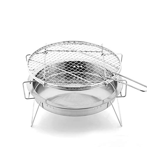 Best Price YECUI Camping Barbecue Tools Outdoor Barbecue Stove Stainless Steel Barbecue Home Portabl...