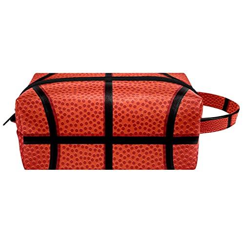 Bolsa de maquillaje bolsa de viaje para mujeres niñas grandes organizadores de maquillaje lindo impermeable casos de viaje portátil cesta de tocador textura naranja