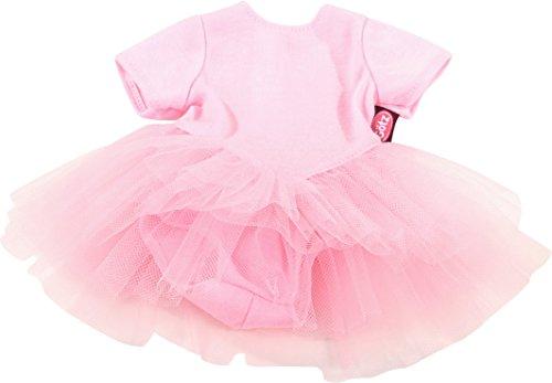 Götz 3402471 Baby Puppenbekleidung Ballettanzug Gr. S - Dress für die kleinsten Ballerinas - rosanes Balletkleidchen für Babypuppen von 30 - 33 cm