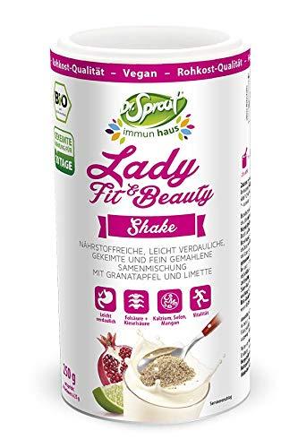 BIO Beauty & Fit Nahrungsergänzung 250g • speziell für Frauen entwickelt • HOCHDOSIERTE Vitamine für Haut, Haare, Nägel wie Zink Selen Folsäure Kieselsäure Gold-Hirseextrakt • bioaktive B-Vitamine