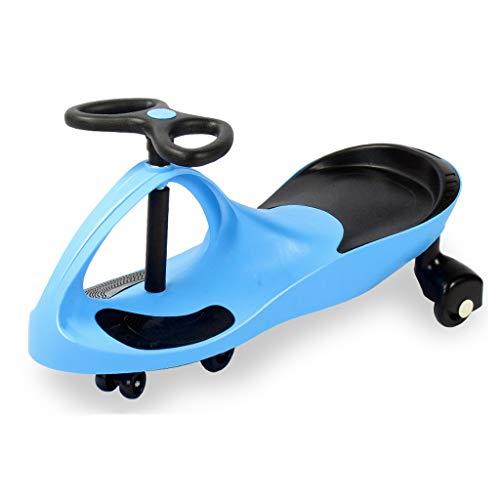 Voiture de Torsion pour Enfants 1-3-6 Ans Hommes et Femmes Baby Yo Car Girl Swing Car Slide FANJIANI (Couleur : Bleu)