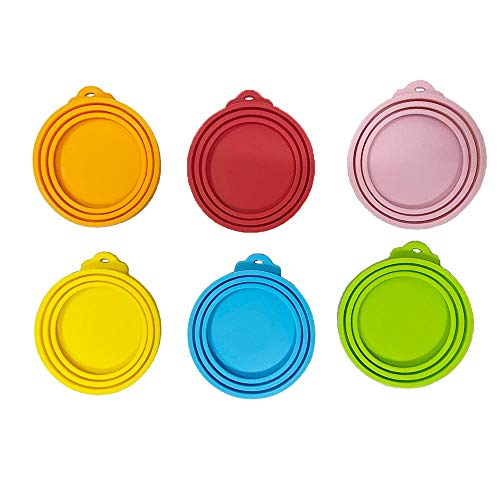 BluVast Dosendeckel, Futterdosen Deckel, BPA Frei & FDA-Zulassung 3in1 Passform Katzen & Hunde Dosendeckel Silikon Suitable for All Common can Sizes