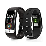 E66s Bluetooth SmartWatch Fitness Tracker with Heart Rate Monitor, Blood Pressure & Oxygen(SPO2) - Push Notifications (IP68 Waterproof)