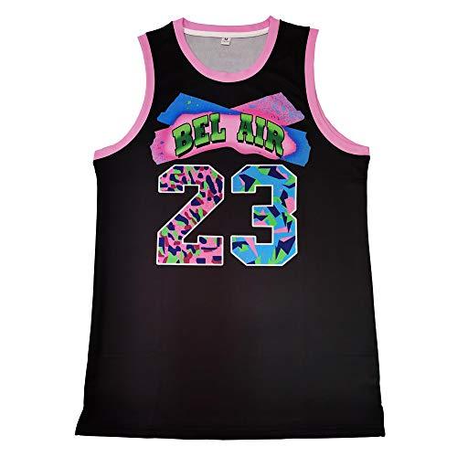 MOLPE Bel-Air Printed Basketball Jerey (L) Black