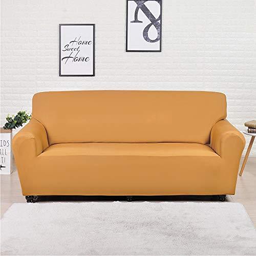 ASCV Fundas Lisas de patrón sólido Funda de sofá Fundas de sofá elásticas para Sala de Estar Funda de sofá Toalla de sofá Silla Funda de sofá A6 1 Plaza