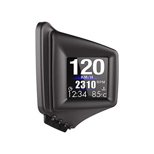 KAOLALI OBD GPS Dual Sistema Encabezar Pantalla Digital HUD GPS Velocímetro Inteligente con Alarma de Sobrevelocidad Voltímetro Advertencia