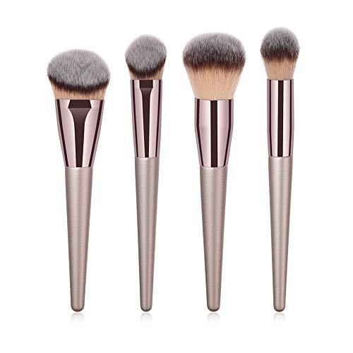 Pinselset Makeup, Grundierungsbürste Gesicht Pinsel 4pcs Puder Pinsel - Weiche natürliche Haare...