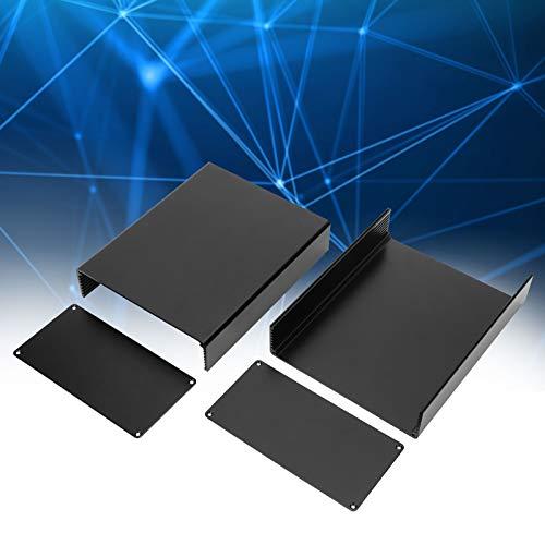 Caja del recinto del proyecto, aleación de aluminio de la caja del recinto electrónico para la placa de circuito para el equipo industrial(Sandblasted and oxidized black)