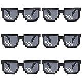 gotyou 6 Stück Mosaic Pixel Brillen,Thug Life Sonnenbrillen,Mosaic Plaid Sonnenbrillen,Dekorative...