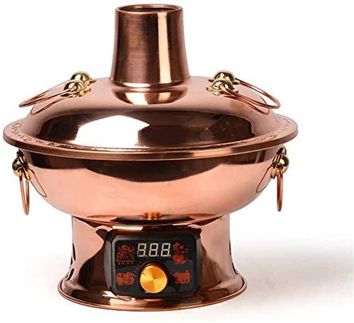 Parrilla eléctrica portátil, Caja fuerte Fondue Fryers Fryers Chino Tradicional Vintage Vintage...