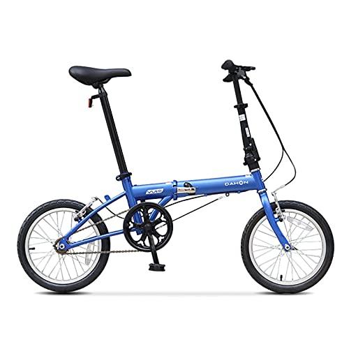 QEEN Bicicleta Plegable Dahon Biki Yuki High Single Speed 16 Inch Urbano...