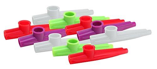 10x Classic Cantabile Fun Kazoo - Kunstoff Pfeife mit sehr leichter Ansprache - Kinder Mundflöte - Spaßinstrument