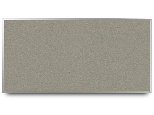 EverWhite High Density Cork Aluminum Framed Bulletin Board, 4' Height x 8' Length, Stone (T7600-4X8-Stone)