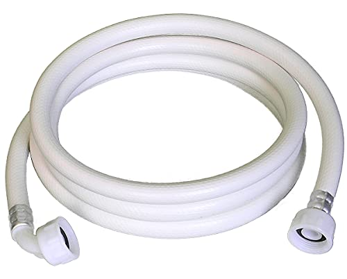 ELECTROHOGAR® Toma Lavadora y Lavavajillas Color Blanco - Varias Medidas - Manguera Universal para Entrada de Agua - Rosca Estándar para Todas las Marcas, Fácil Instalación (2,5 m)