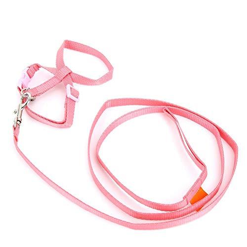 Huisdier harnas, kleine dieren verstelbare training harnas roze vezel doek mooie trekken riem touw voor cavia konijnen katten hamster rat muis