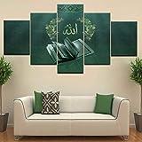 Airxcn Drucke auf Leinwand 5 Tafeln Moderne Kunst Wandkunst