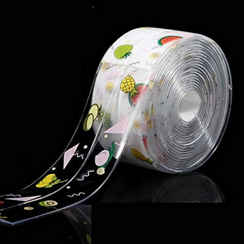 FSHB Küche Bad Duschwanne Bad Dichtungsstreifen Dichtungsband PVC Selbstklebend Wasserdicht Schimmel Proof Wandaufkleber, klare Frucht