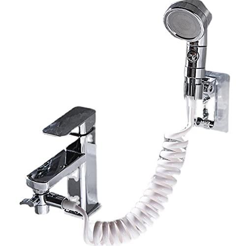 ShuiTou Grifo Agua Fria Y Caliente Disponible De Cocina con Alcachofa Giratoria 360° Mezclador Monomando para Lavabo Giratorio Baño Acero Inoxidable