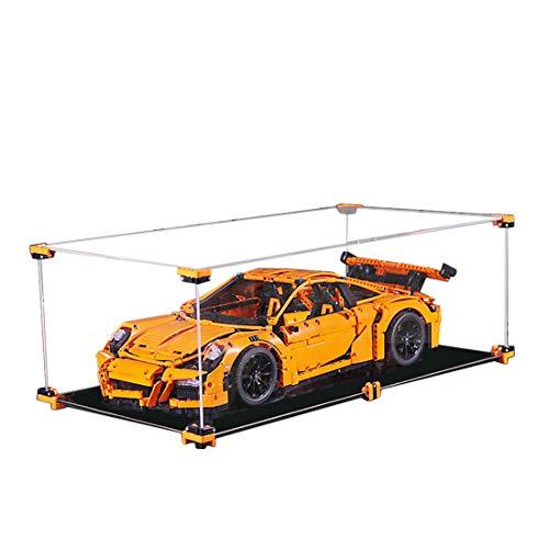 Dittzz Acryl Vitrine, Staubdicht Schaukasten Display Case für Lego Technic 42056 Porsche 911 GT3 RS (Ohne Lego-Modelle)