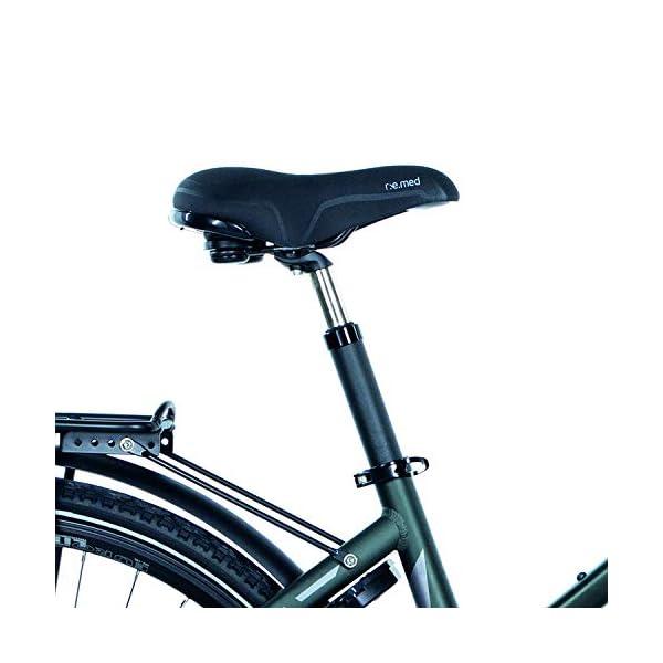 41QWib5d5TL. SS600  - FISCHER Damen - E-Bike Trekking VIATOR 4.0i, schwarz oder grün matt, 28 Zoll, RH 44 cm, Mittelmotor 50 Nm, 48 V Akku im Rahmen